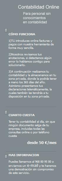 Asesoria en Murcia Contabilidad online